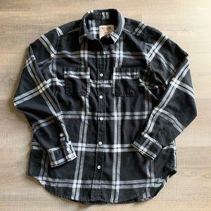 EUC Mossimo Black plaid boyfriend fit flannel 🖤